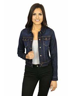 StyLeUp Women's Classic Casual Vintage Denim Jean Jacket/Vest Regular & Plus Size