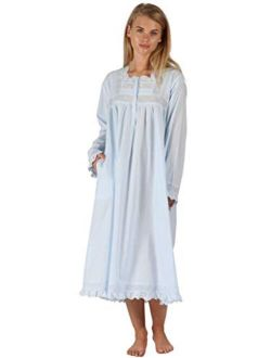The 1 for U Henrietta 100% Cotton Victorian Nightgown with Pockets 7 Sizes