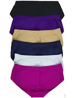 ToBeInStyle Womens Pack of 6 Enhancing Butt Boosting Padded Panty Briefs
