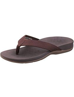 SESSOM&CO Women's Orthotic Sandals with Arch Support for Plantar Fasciitis Stylish Beach Flip Flops Outdoor Toe Post Sandal