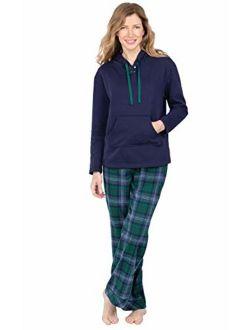 PajamaGram Womens Pajamas Soft Cotton - Winter Pajamas for Women