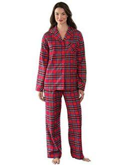 PajamaGram Womens Pajama Sets Flannel - Cozy Ladies Pajamas