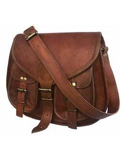 cuero 14 Inch Leather Crossbody Satchel Ladies Purse Women Shoulder Bag Tote Travel Purse Genuine Leather (choclate brown)