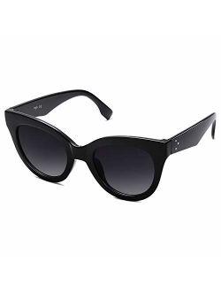 Retro Vintage Cateye Oversized Women Sunglasses Designer Glasses Holiday Sj2074