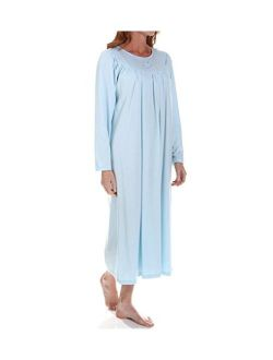 Calida 100% Cotton Knit Long Sleeve Nightgown