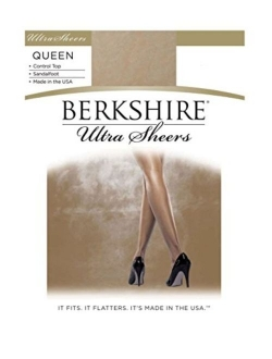 Berkshire Women's Plus-Size Queen Ultra Sheer Control Top Pantyhose - Sandalfoot 4411