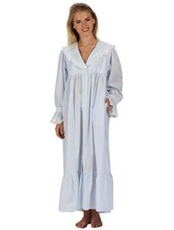 The 1 for U Amelia 100% Cotton Victorian Nightgown with Pockets 7 Sizes