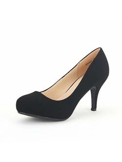 Tiffany Women's New Classic Elegant  Low Stiletto Heel Dress Pumps Shoes