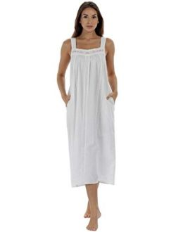 The 1 for U Nightgown 100% Cotton Sleeveless + Pockets Meghan