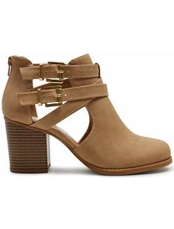 Marco Republic Dublin Womens Chunky Block Stacked Heels Pumps Ankle Booties Boots