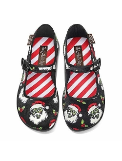 Hot Chocolate Design Chocolaticas Dark Gothic Canvas Women's Mary Jane Flat Shoes