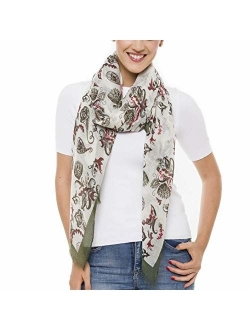 Scarf for Women Lightweight Paisley Fashion for Spring Summer Scarves Shawl Wrap