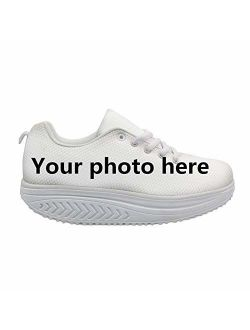Bigcardesigns Fashion Fitness Walking Sneaker Casual Women Wedge Platform Shoes