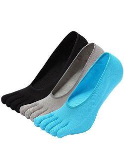 NO Show Running Five Fingers Crew Ankle Toe Socks for Women Ladies Men