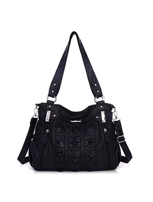 Angel Barcelo Womens Soft Leather Handbag Shoulder Purses Crossbody Handbag Purse for Girls Ladies