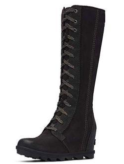 Suede Joan Of Arctic High Heel Wedge Tall Boots