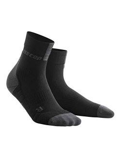 Womens Athletic Crew Cut Compression Socks- CEP Short Socks for Performance