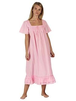 The 1 for U 100% Cotton Short Sleeve Nightgown - Evelyn