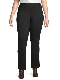 A3 Denim Women's Plus Size Bootcut Ponte Pant