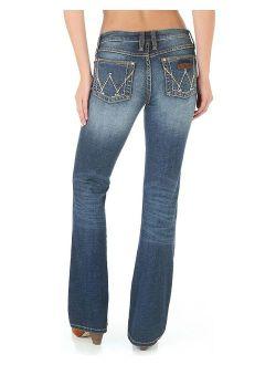 Women's Retro Mae Jeans Boot Cut Blue 11w X 34l