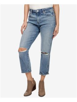Womens Blue Distressed Jeans Size: 12