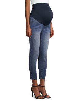 Maternity Medium Wash Full Panel Ankle Jeans