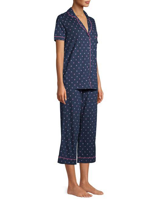 Secret Treasures Women's Traditional Short Sleeve Sleep Set