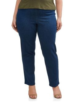Women's Plus-size Pull-on Stretch Woven Pants, Also In Petite