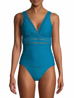 Women's Odes Sea Solid Tankini Swimsuit Top