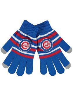 Chicago Cubs Stripe Knit Gloves