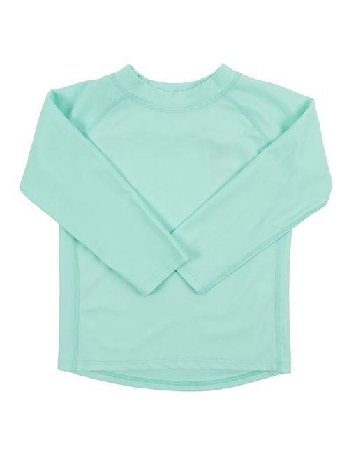 Leveret Long Sleeve Baby Boys Girls Rash Guard Sun Protected UPF + 50 Kids & Toddler Swim Shirt (Size 12 Months-5 Toddler)