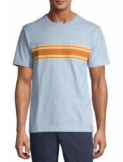 Men's And Big Men's Cotton Crew Pocket T-shirt, Up To Size 3xl