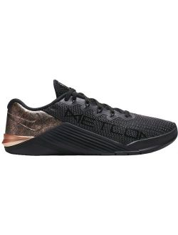Women's Metcon 5 Black X Rose Gold Training Shoes