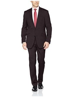 Men's Stretch Slim Fit Finished Bottom Suit