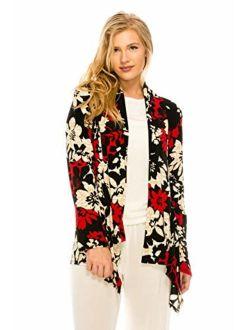 Jostar Women's Stretchy Print Mid Cut Jacket Long Sleeve Print