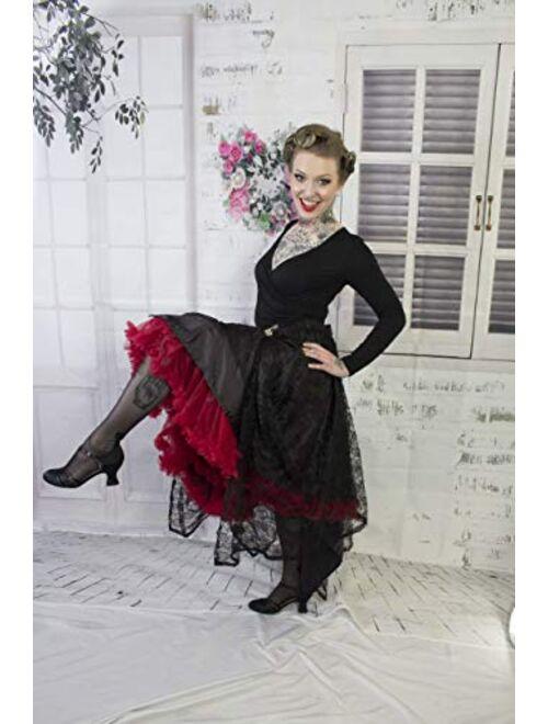 Malco Modes Luxury Vintage Knee-Length Crinoline Jennifer Petticoat Skirt Pettiskirt, Adult Tutu for Rockabilly 50s