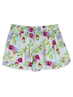 Girls' Printed Chambray Short