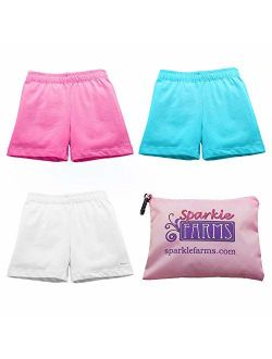 Sparkle Farms Little Girls Under Skirt and Dress Modesty Shorts for Dance, Bikes, Playground Cartwheels, 3-Pack