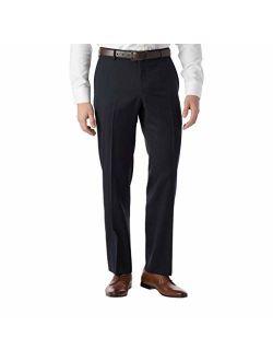 Ballin Men's Modern Fit SOHO Comfort EZE Super 120's Gabardine Trouser Pants, Navy, 33
