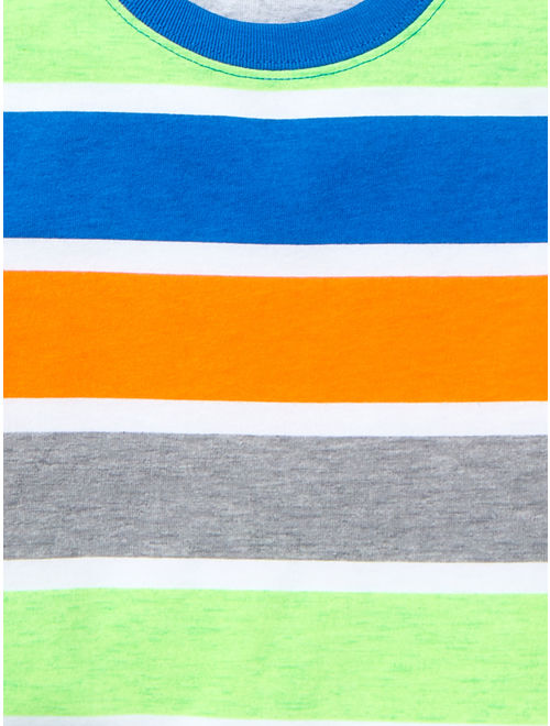 Garanimals Baby Toddler Boy Graphic/Stripe T-Shirts & Shorts, 4pc Outfit Set
