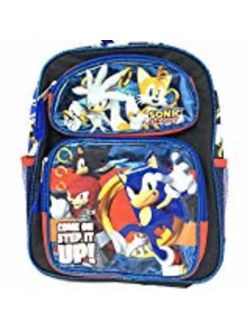 """Small Backpack - Sonic the Hedgehog - Come On Step It UP 12"""" New 202112"""