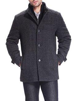 BGSD Men's Samuel Herringbone Wool Blend Bibbed Car Coat