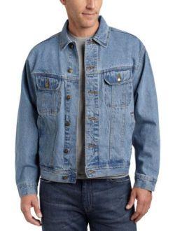 Men's Rugged Wear Denim Jacket, Vintage Indigo, Xl Tall