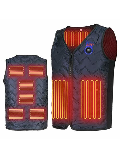 YZFDBSX Heated Vest with App Control and 8 Heating Elements(no Battery)