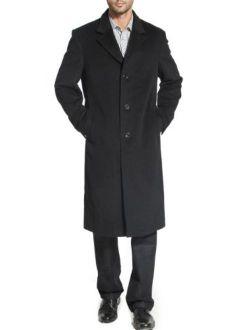 BGSD Men's Henry Cashmere Blend Long Walking Coat (Regular and Big and Tall)