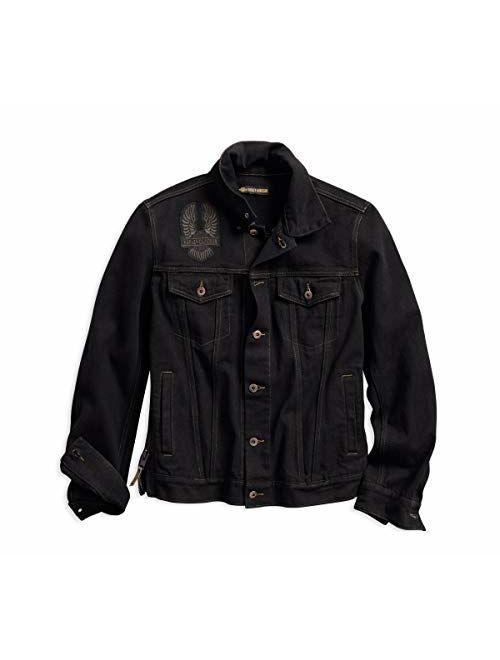Harley-Davidson Mens Eagle Applique Slim Fit Denim Jacket 98592-18VM