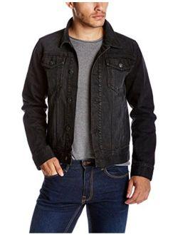 Quality Durables Co. Men's Regular-Fit Jean Jacket L Black