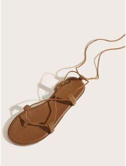 Toe Post Tie Leg Sandals