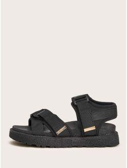 Velcro Strap Ankle Strap Sandals