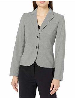 Women's Two Button Lux Blazer (standard & Petite Sizes), Tin, 16
